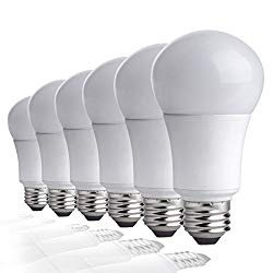 TCP LA927KND6 9 Watt LED Light Bulbs | Shatter Resistant | Energy Efficient (60W Equivalent) | Non-Dimmable | A19 E26 Base, Pack of 6, Soft White 2700 Kelvin, 6 Each